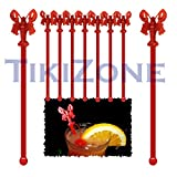 Red Lobster Cocktail Drink Stirrers / Swizzles (25)