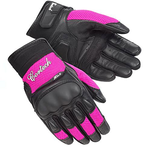 Cortech HDX 3 Womens Leather Street Motorcycle Gloves - Pink / Medium