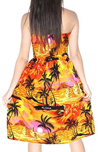 n313 Maillot Licou suprieur vtements Couvrir Sundress Maxi de Plage Bain de Jupe Maillots Orange Tube Femmes 8RqgZZ