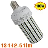 100 watt corn cob led - NGTlight 100W LED Corn Cob Bulbs Replace 400watt HPS HID MHL ,E39 Mogul 13442 lumens 4000K (Neutral White) LED Corn Lamp Retrofit High Bay Fixture Light