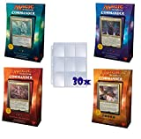 Magic the Gathering (MTG): 2017 Commander SET OF ALL 4 DECKS SEALED Plus Ace Syndicate Premium Gift of 30x9 Pocket Card Pages