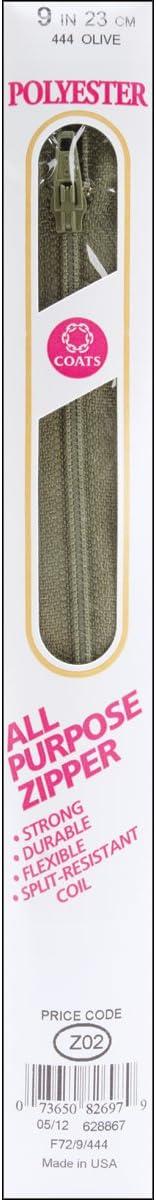 Coats Thread /& Zippers All-Purpose Plastic Zipper 7-Inch Dark Turquoise