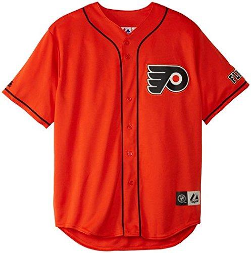 quality design c417a 90f70 Philadelphia Flyers Orange NHL Replica Team Baseball Jersey ...
