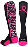 Digital Camo Aware Over the Calf Socks Pink Ribbon Softball Soccer Football