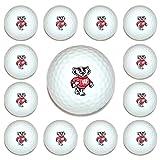 NCAA Wisconsin Badgers Golf Balls, 12 Pack