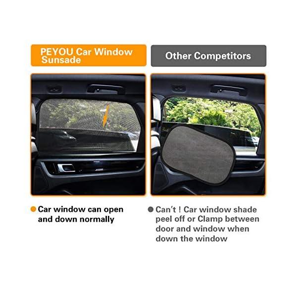 PEYOU Tendine Parasole Auto Bambini [2020 Version,2 Pezzi] Tendina Parasole per Finestrino Laterale dell'auto per… 3 spesavip