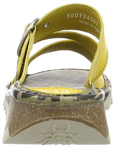 Thea724fly Sandals Heels Amarillo para London Fly Mujer Lemon 007 P6tqwq5