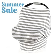 Arcilla & Co. SUMMER SALE! Multi-use Baby Car Seat Cover, Nursing Cover, Breastfeeding Cover for Boys and Girls