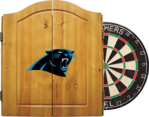 - Imperial Officially Licensed NFL Merchandise: Dart Cabinet Set with Steel Tip Bristle Dartboard and Darts, Carolina Panthers