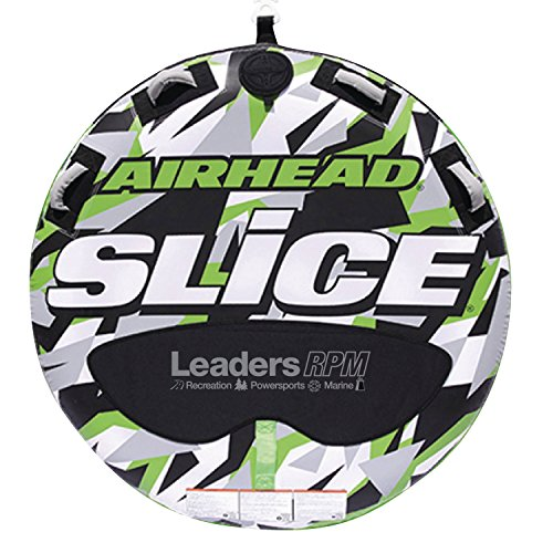 Airhead New OEM Inflatable 2-Person Green Super Slice Deck Tube, - Slice Super Towable