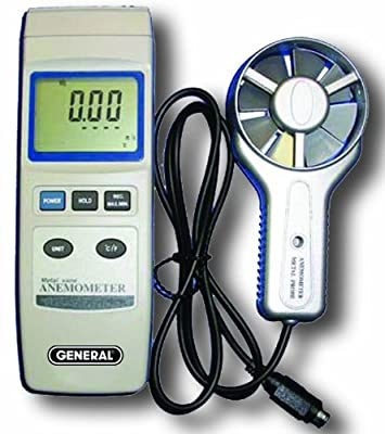General Tools DAF80PWM Digital Metal Vane and Temperature Anemometer