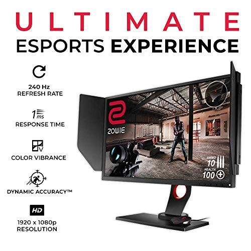 BenQ Zowie XL2546 24.5 Inch 240Hz Gaming Monitor & Black Equalizer & Logitech G Pro Wireless Gaming Mouse with Esports Grade Performance