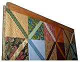 Any Size to 65 Inch Clamping Style Quilt Rack Throw Rug Hanger - Oak