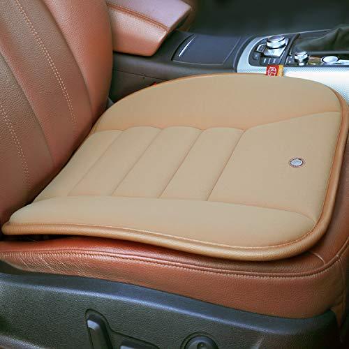 Car Seat Cushion Pad for Car Driver Seat Office chair Home Use Memory Foam Seat Cushion Khaki