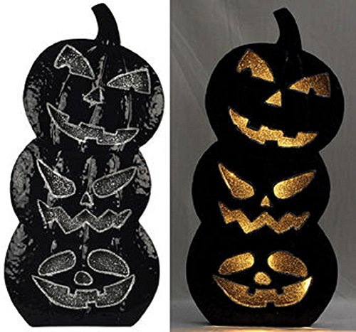 Pumpkins Stacked (Sunset Vista Designs Stacked Pumpkins Halloween Decoration)