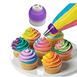 Cake Decorating Tools - 1pcs Icing Piping Bag Tri Color Cream Coupler Nozzle Converter Cake Decorating Cookie 3 Hole - Caddy Roses Storage Lipstick Organizer Day Equipment Scraper Fondant Kit
