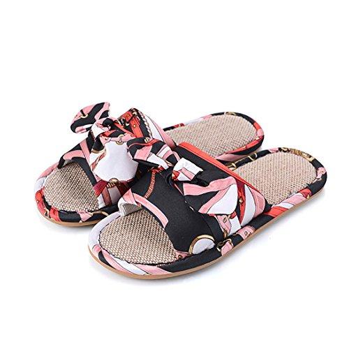 Plancher Vdual Pantoufles Maison Pour Slipper Noir De Sandales Lin Chaussons Gym Femme Piscine Hommes En Tongs Bains Salle D'été Lavable aqSaAw