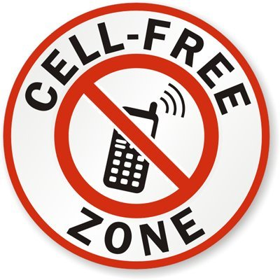 No Cell Phone Zone Sticker Decal Vinyl mobile