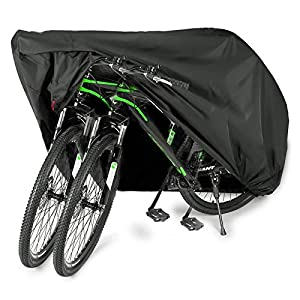 Well-Being-Matters 51jC8oOKLNL._SS300_ EUGO Bike Cover for 2 or 3 Bikes Outdoor Waterproof Bicycle Motorcycle Covers XL XXL Oxford Fabric Rain Sun UV Dust Wind…