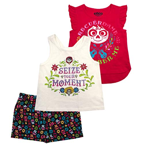 (Disney Girls 3PC Shirts and Short Set: Wide Variety Includes Minnie, Frozen, and Princess)