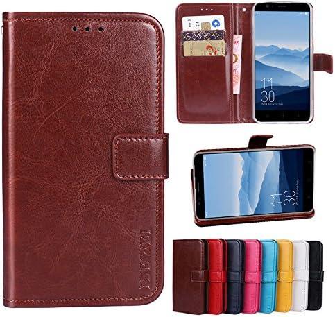 Elephone P8 Mini Funda Faux Cuero Billetera Funda para Elephone P8 Mini con Stand Función(Marrón): Amazon.es: Electrónica