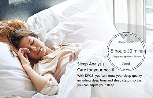 kingwear KW18 Bluetooth Smart reloj teléfono redondo reloj de pulsera SIM 1.3 pulgadas podómetro Monitor de frecuencia cardíaca para Android Xiaomi ios ...