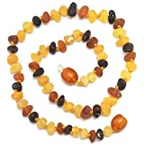 Image of Hand Made Baltic Amber Teething Necklace for Babies - Safety Knotted - Not Polished
