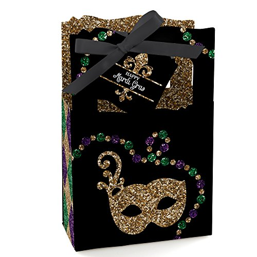 Mardi Gras - Masquerade Party Favor Boxes - Set of (Mardi Gras Treats)