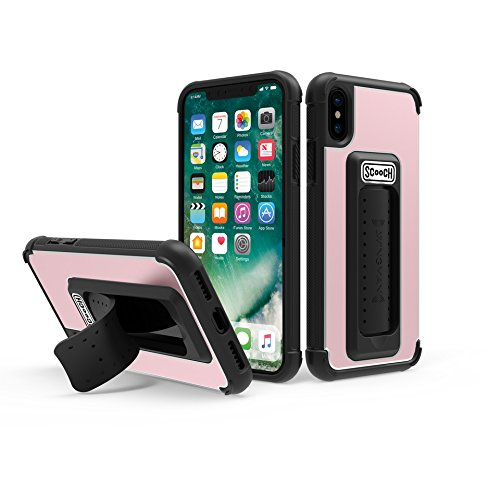 Scooch Wingman 5-in-1 Case for The iPhone Xs (Also Fits iPhone X) (Rose Gold)