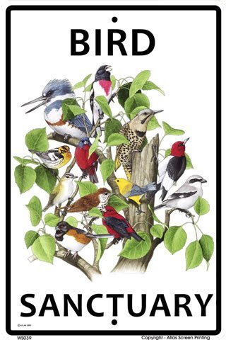 "CROSSWALKS Bird Sanctuary 10"" X 15"" Aluminum Sign from CROSSWALKS"