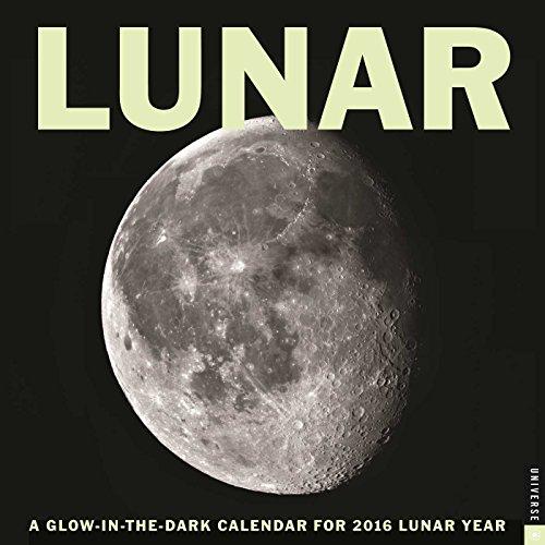 Lunar 2016 Wall Calendar  A Glow In The Dark Calendar For The Lunar Year