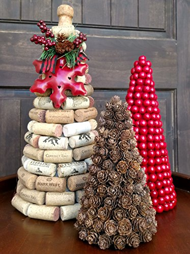 es, Christmas Cone Trees, Paper Mache Cone Trees, Topiary Cone Trees, Christmas Center Piece ()