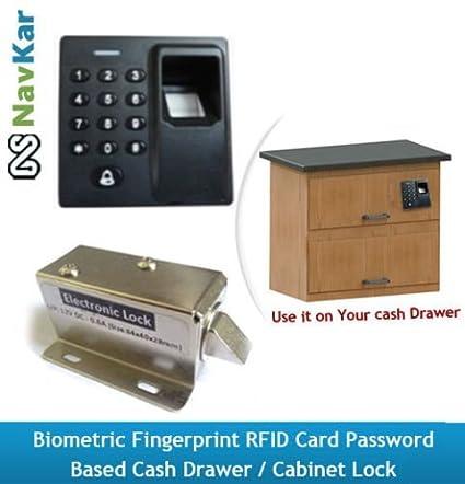 NAVKAR Biometric Fingerprint RFID Card Password Based Cash Drawer / Cabinet  Lock