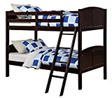 Angel Line Creston Twin Over Twin Bunk Bed, Espresso