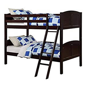 Angel Line Creston Twin Over Twin Bunk Bed, Espresso 12