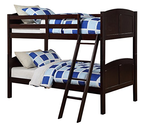 Angel Line Creston Twin Over Twin Bunk Bed Espresso