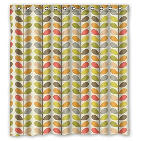 Colorful Orla Leaves Kiely Custom Personalized Waterproof Shower Curtain Bathroom Curtains Bath 60x72 Inches Amazoncouk Kitchen Home