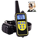 Shock Collar for Dogs,Dog Training Collar 800 Yard Dog Shock Collar with Remote IPX7 100% Waterproof and Rechargeable for All Size Dogs