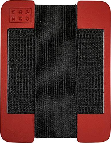 (FRAMED Minimalist Ultra-Slim Metal Wallet (American Made, Front Pocket) (Red))