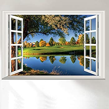 Dnven 24w x 16h 3d high definition peaceful lake big