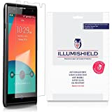 zte blade g lux accessories - ZTE Blade G Lux Screen Protector [3-Pack], iLLumiShield - Japanese Ultra Clear HD Film with Anti-Bubble and Anti-Fingerprint - High Quality Invisible Shield - Lifetime Warranty