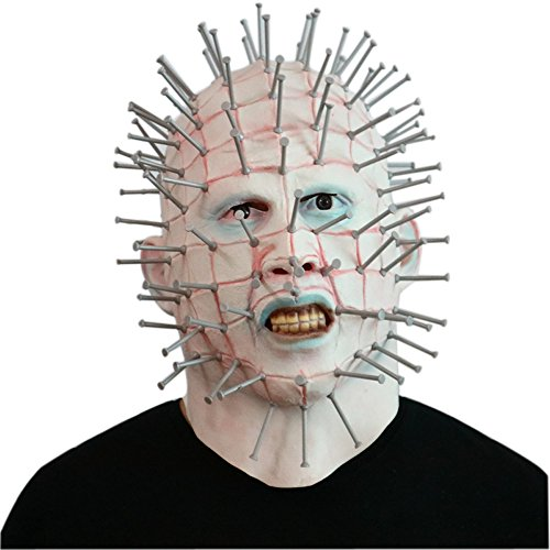 Halloween Mask Horror Movie Hellraiser Scary Pinhead Masks Grimace Monster Adult Cosplay Party Masks