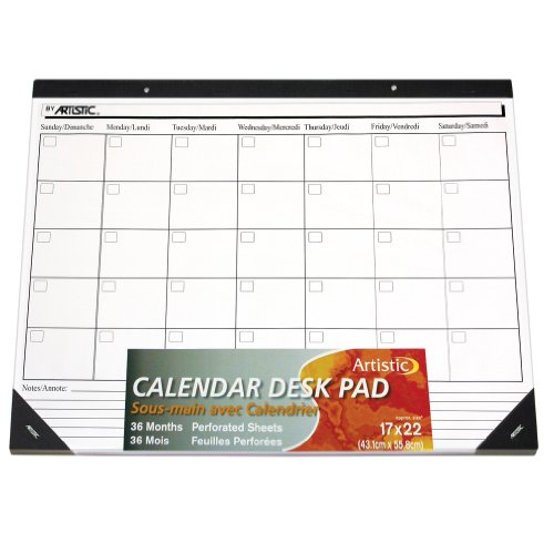 Weekly Calendar Desk Pad : Artistic quot undated monthly desk calendar pad