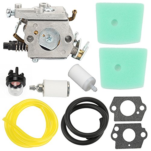 Harbot C1Q-EL24 Carburetor +Air Filter Fuel Line Filter Gasket Tune Up Kit for Husqvarna 123C 123L 123LD 223L 223R 322C 322L 322R 323C 323L 325C 325CX 325L 325LX 326C 326L 326LX String Trimmer