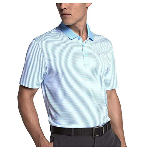Nike Men's Dri-FIT Victory Mini Stripe Golf Polo, (University Blue/White, S)
