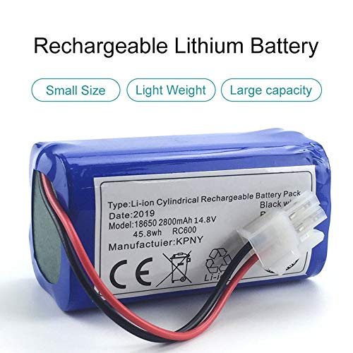 Flytoasky 14.8 V 2800 Mah Robot Vacuum Cleaner Replacement Battery Pack for Chuwi Ilife V7 V7s Pro Robotic Sweeper