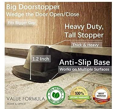 Door Stoppers Doorstops Rubber Door Wedges 10 Pack & 4 Pack