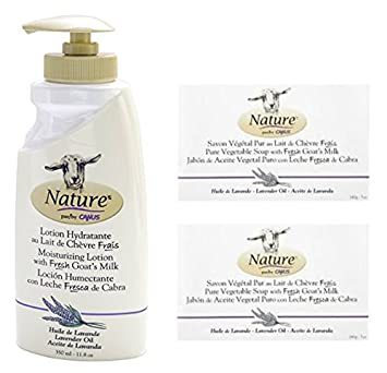 Canus Nature Lavender Oil Moisturizing Lotion and Nature Pure Vegetal Oil Base Soap Lavender Oil (