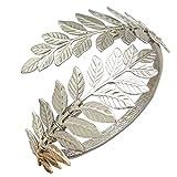 RechicGu Silver Tone Greek Roman Laurel Leaf Bracelet Armband Upper Arm Deal