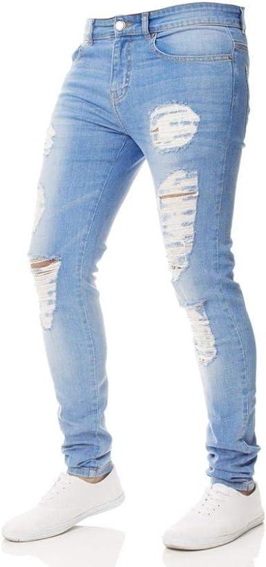 Pantalones Hombre Jeans Slim Fit Pantalones Casuales Hombres Moda Hombres Pantalones Al Aire Libre Pantalones Jeans Pantalones Hombres Cargo Boys Destroyed Pantalones Ajustados Elasticos Amazon Es Ropa Y Accesorios